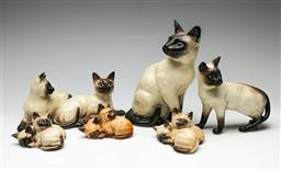 Sale 9209V - Lot 59 - A collection of Beswick ceramic cats (Tallest H: 23cm)