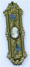 Sale 7612 - Lot 100 - A GILT CAMEO BROOCH;