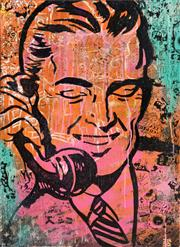 Sale 8235A - Lot 35 - INDO (1982 - ) - Your Never Too Old to Prank Call 91 x 61cm