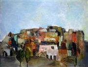 Sale 8563T - Lot 2003 - Lesley Haslewood Pockley - Arab Village, Morocco 1991 oil on canvas, 45 x 60cm, signed lower right (Wagner Exhibition label verso)