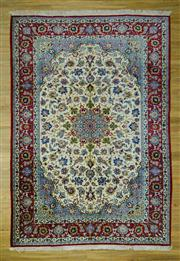 Sale 8601C - Lot 27 - Fine Persian Kashan 367x255