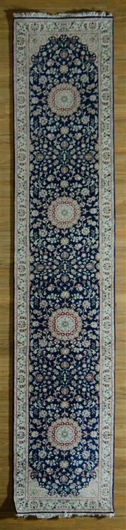 Sale 8700C - Lot 40 - Persian Indo Nain 397cm x 81cm