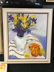 Sale 8753 - Lot 2095 - Val Landa (1940 - ) - Yellow Mug acrylic on canvas, 80 x 69.5cm (frame) , signed lower right -