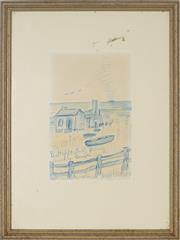 Sale 8856 - Lot 2066 - William (Merric) Boyd (1888 - 1959) - Perhaps Early Bathing, Country Beach 26.5 x 17.5cm