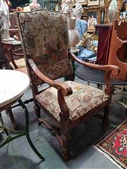 Sale 8925 - Lot 1052 - A Henry II style carved and tapestry upholstered chair