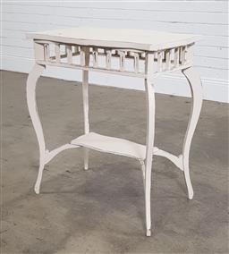 Sale 9188 - Lot 1643 - Painted timber side table (h75 x w63 x d45cm)