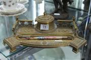 Sale 7998 - Lot 14 - Late 19th Century Continental Brass Ink/ Desk Stand