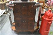 Sale 8262 - Lot 1056 - Raised Timber Drinks Cabinet with Drop Front
