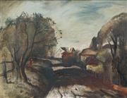 Sale 8526 - Lot 557 - Lloyd Rees (1895 - 1988) - Lane at Carlingford 34.5 x 45cm