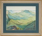 Sale 8895 - Lot 2012 - Artist Unknown - Mountain Ranges, View to the Valley 26 x 32 cm
