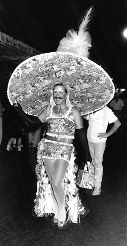 Sale 9082A - Lot 5025 - Sydney Gay and Lesbian Mardi Gras Parade, Oxford Street (1988), 13 x 24.5 cm, silver gelatin, Photographer: unknown