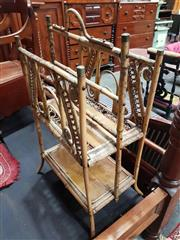 Sale 8925 - Lot 1029 - A tiger cane magazine rack on stand