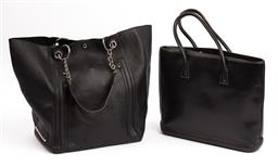 Sale 9092F - Lot 48 - A STEVE MADDEN BUCKET BAG AND A DOONEY BOURKE BAG; both in black with internal pockets.