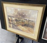 Sale 9087 - Lot 2041 - Frederick Bates, National Park watercolour (A.F), frame: 79 x 92 cm, signed lower left