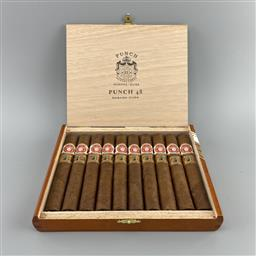 Sale 9165 - Lot 636 - Punch Punch 48 Cuban Cigars - varnished box of 10 cigars, dated December 2018