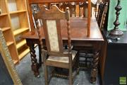Sale 8465 - Lot 1628 - Dining Suite over Barley Twist Legs
