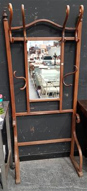 Sale 8777 - Lot 1012 - Bentwood Hall Stand with Central Mirror