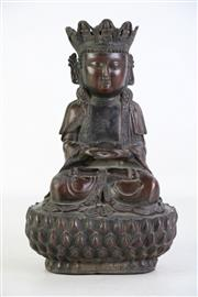 Sale 8913 - Lot 71 - Bronze Seated Buddha on lotus base, mark to front of base (H29cm)