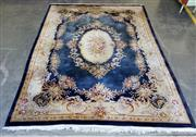 Sale 9059 - Lot 1094 - Blue and Yellow Tone Embossed Chinese Carpet (375 x 278cm)