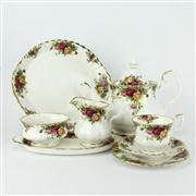 Sale 8239 - Lot 78 - Royal Albert Old Country Roses Tea Setting for Six Persons