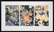 Sale 8295 - Lot 44 - Artist Unknown - Japanese Warriors 33 x 72cm (overall)