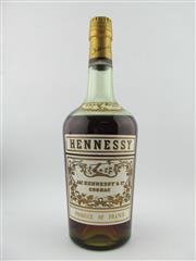 Sale 8385 - Lot 611 - 1x Hennessy Cognac - old bottling, probably 750ml (unmarked), some evaporative losses