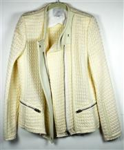 Sale 8460F - Lot 61 - An Iro ivory waffle jacket with lambskin panel, as new with tag, size 42