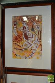 Sale 8503 - Lot 2038 - Walter Blitner - Kangaroo and Mimi Sprits, 1996 52 x 36.5cm (frame size 79 x 63cm)