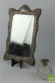 Sale 8505 - Lot 100 - HMSS Sterling Silver Frame Together With Lidded Perfume Bottle