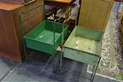 Sale 8532 - Lot 1145 - Pair of Industrial Metal Tray on Stand