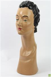 Sale 8635W - Lot 29 - Female 1950s/60s Mannequin Head (Some Losses)