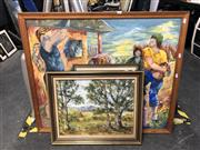 Sale 8797 - Lot 2128 - Group of Assorted Paintings by Various Artists