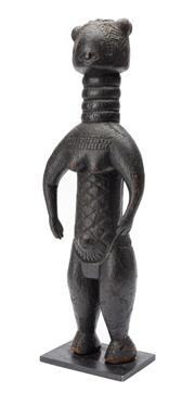 Sale 8864 - Lot 31 - Mende Female Figure, (Minsereh) Sierra Leone. Height 45.7cm - Carved Wood