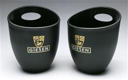 Sale 9164 - Lot 238 - A pair of Giesen Champagne buckets (H:24cm)