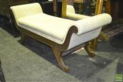 Sale 8227 - Lot 1028 - Double Ended Settee with Scrolled Arms
