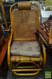 Sale 8523 - Lot 1074 - Ornate Cane Rocking Chair