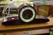 Sale 8523 - Lot 1017 - Timber Mantle Clock
