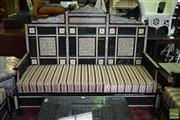Sale 8532 - Lot 1177A - Egyptian 3 Seater Settee with Mother of Pearl Inlay