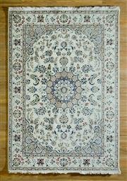 Sale 8700C - Lot 44 - Persian Indi Nain Wool & Silk Inlaid 169cm x 245cm