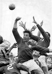 Sale 8754A - Lot 33 - NSW vs British Lions, Sydney Sports Ground, 21 May 1966 - British Lions Captain Mike Campell-Lamerton 30 x 21cm