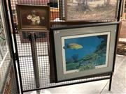 Sale 8759 - Lot 2019 - 2 Works: J Hook - Coral Reef Decorative Print plus Artist Unknown -  Still Life