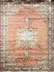 Sale 8826 - Lot 1043 - Possibly Indian Viscose Hand Made Silk Rug (360 x 270cm)