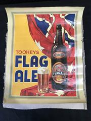 Sale 9039 - Lot 1021A - Tooheys Flag Ale Advertising Poster (h:58 x w:46cm)