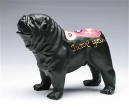Sale 9093 - Lot 63 - A Hannes dHaese Painted English Bulldog In Black (L: 24cm)