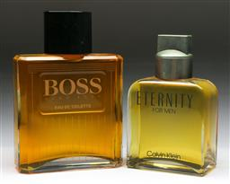 Sale 9144 - Lot 22 - Large Calvin Klein perfume (H:24cm) together with a Hugo Boss example (H:27.5cm)