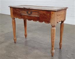 Sale 9188 - Lot 1637 - Rustic timber single drawer hall table (h76 x w100 x d45cm)