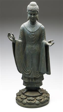 Sale 9253 - Lot 91 - A composite Chinese standing Guanyin (H:65cm)