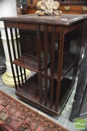 Sale 8317 - Lot 1020 - Early C20th Mahogany Two-Tier Turning Bookcase on Castors