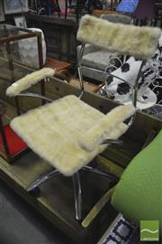 Sale 8326 - Lot 1262 - Wool & Chrome Desk Chair