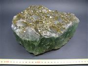 Sale 8331A - Lot 505 - Green Fluorite with Barite & Pyrite, China